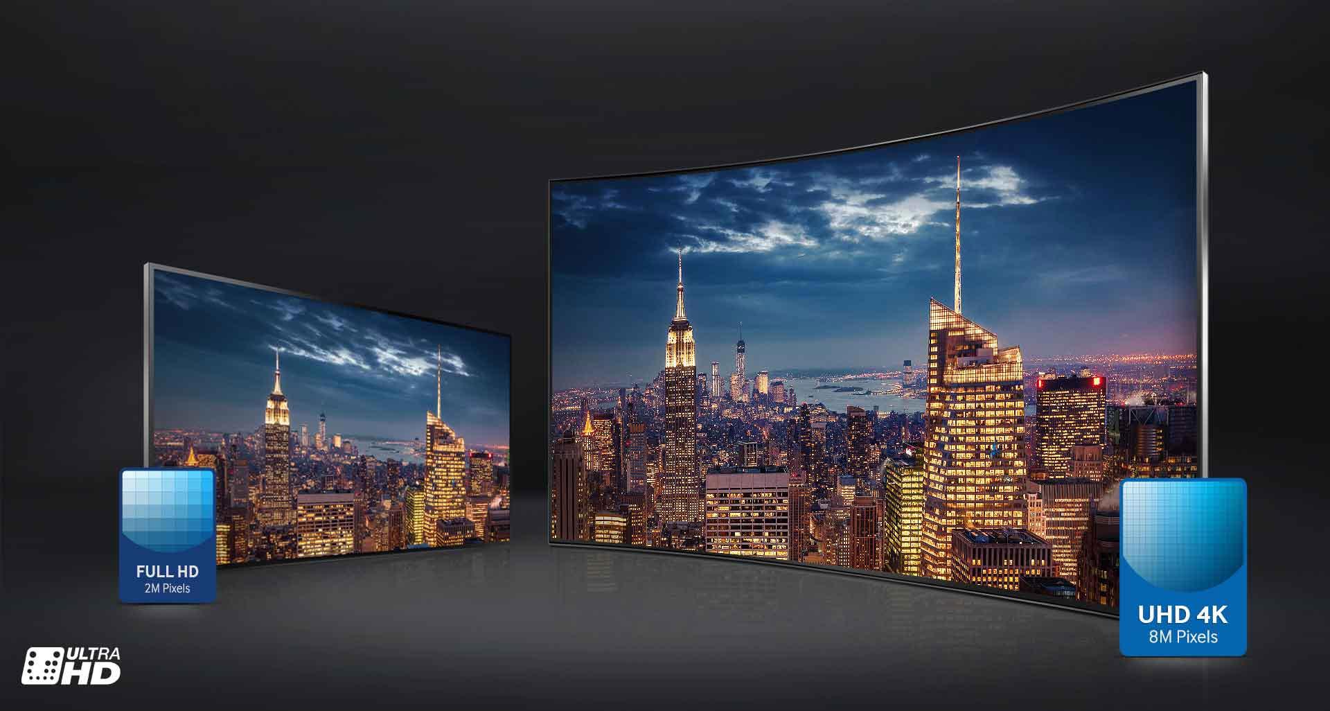 تلویزیون ال ای دی منحنی سامسونگ 40 اینچ سری 7 اسمارت JUC7920