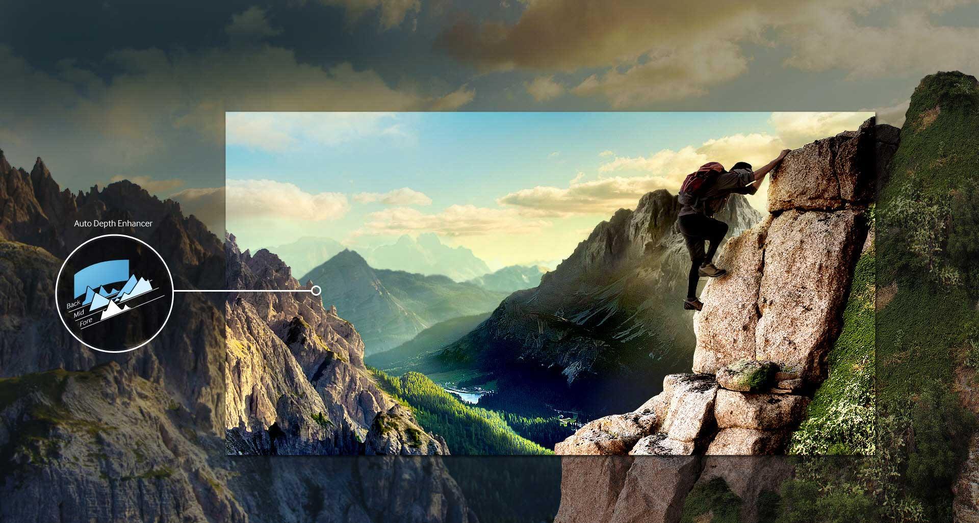 تلویزیون ال ای دی منحنی سامسونگ 55 اینچ سری 8 اسمارت 55JUC8920