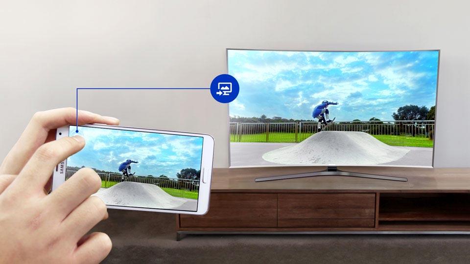 تلویزیون ال ای دی منحنی 55 اینچ سری 8 اسمارت سامسونگ
