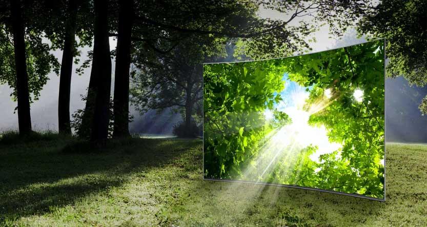 تلویزیون ال ای دی منحنی سامسونگ 65 اینچ سری 9 اسمارت