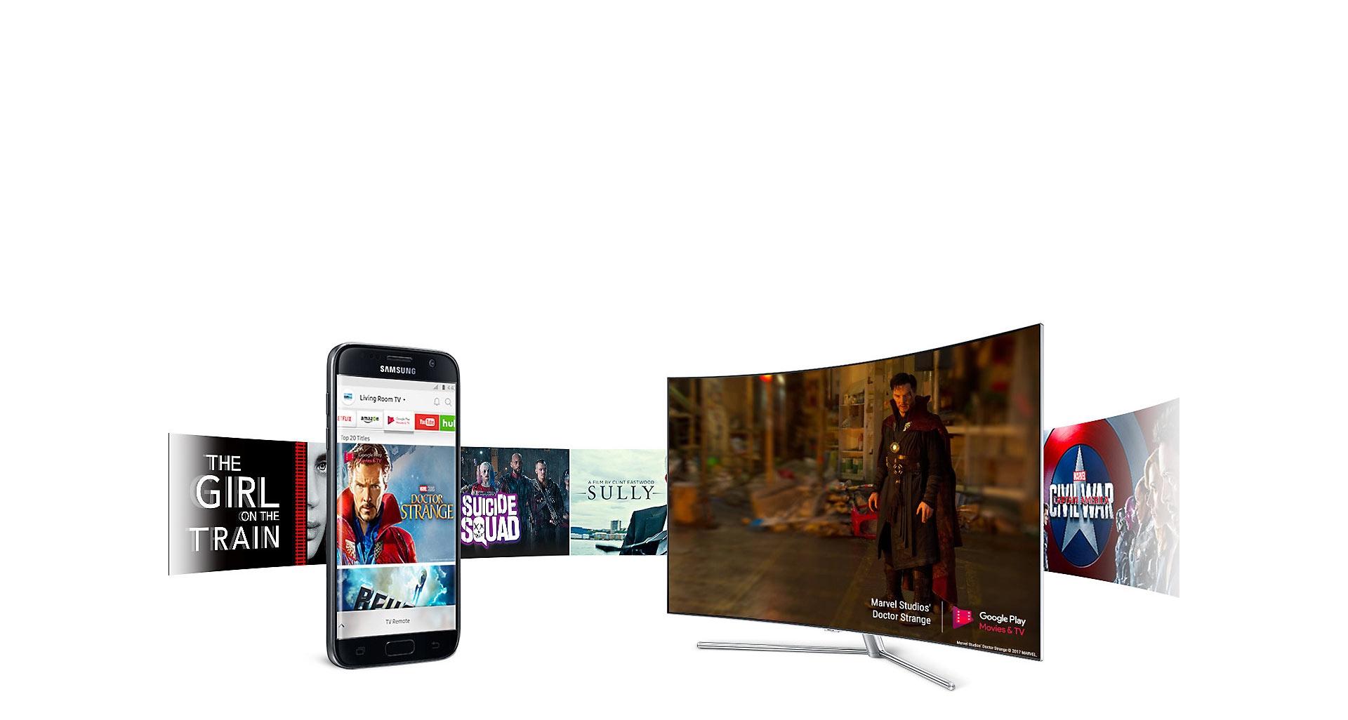ویژگی Smart View تلویزیون QA55Q78C
