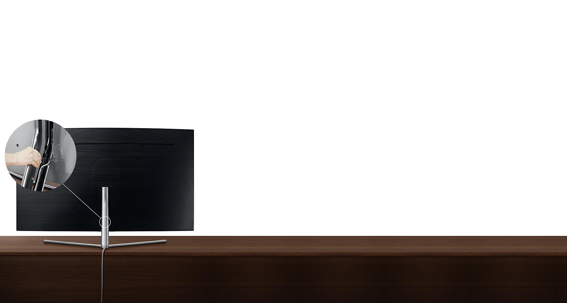 تلویزیون Q78C سامسونگ با پایه ای کاربردی