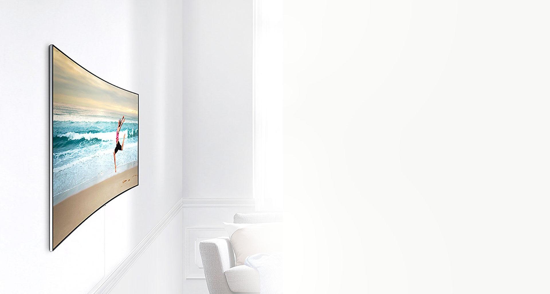 پایه دیواری کاملا مسطح تلویزیون QLED سری 7