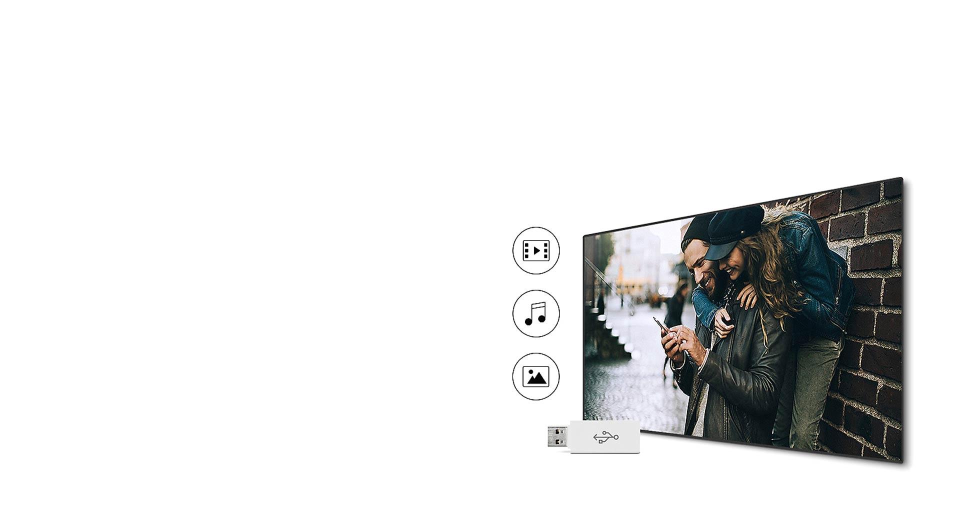 اشتراک گذاری آسان با تلویزیون 49 اینچی مدل N6900 سامسونگ