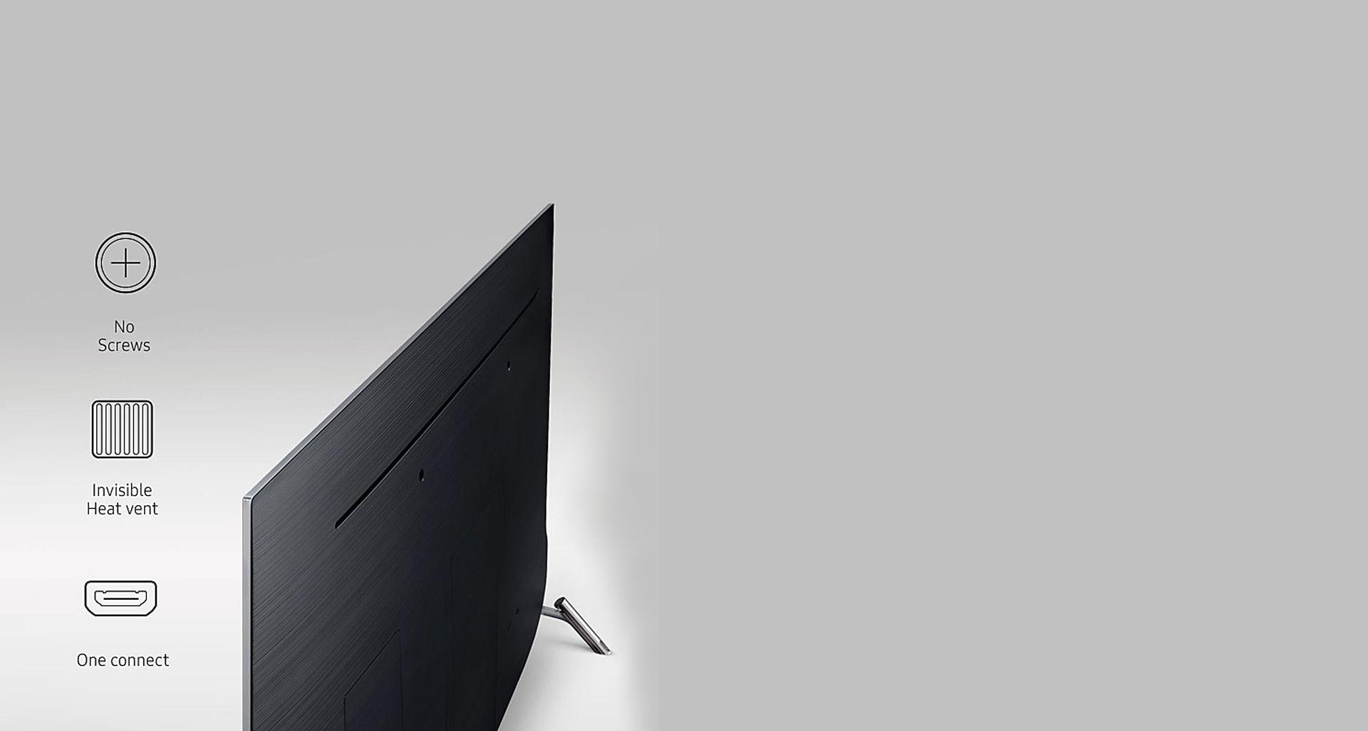طراحی مینیمالی بدنه پشتی تلویزیون سری 8