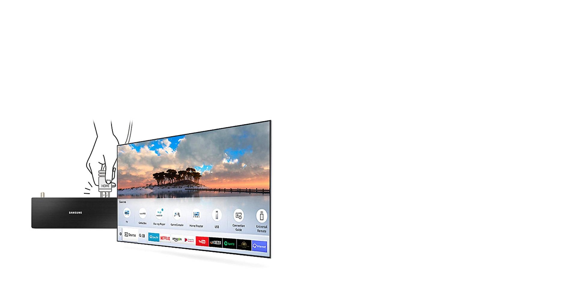 تلویزیون اسمارت UHD 4K سامسونگ مجهز به Auto Detection