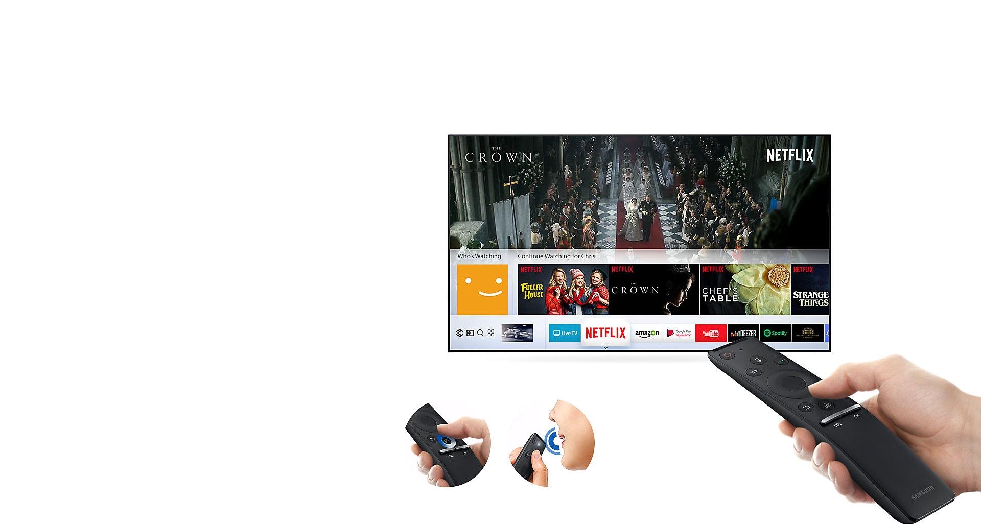 کنترل حرفه ای تلویزیون یو اچ دی اسمارت سامسونگ