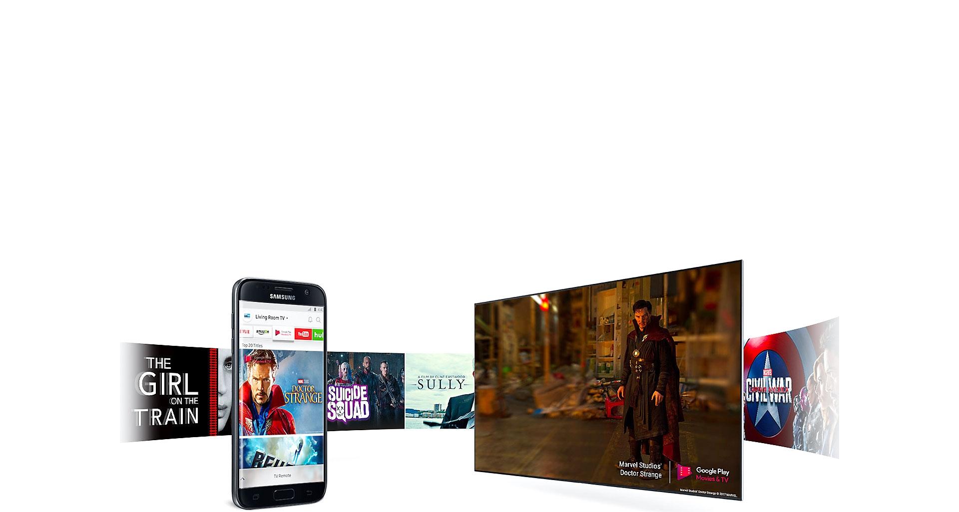 نمایش هوشمند محتوا در Smart TV سری 8 سامسونگ