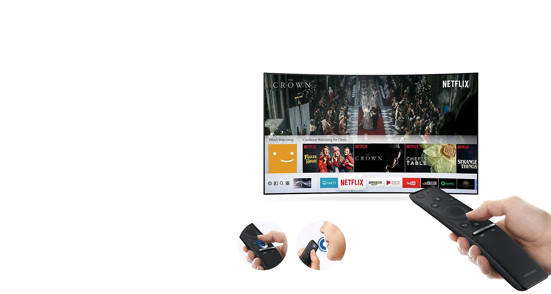 تلویزیون 55 اینچی سری 10 با ویژگی One Remote