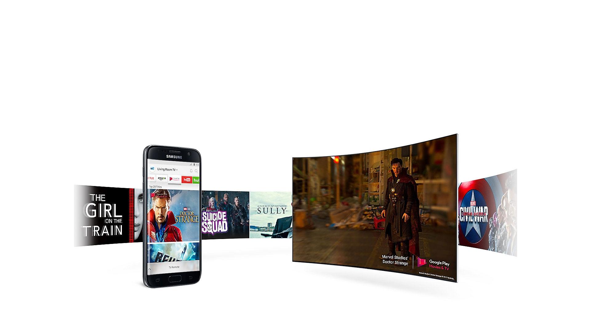 اتصال بی سیم تلویزیون MU10000 به دستگاه های هوشمند