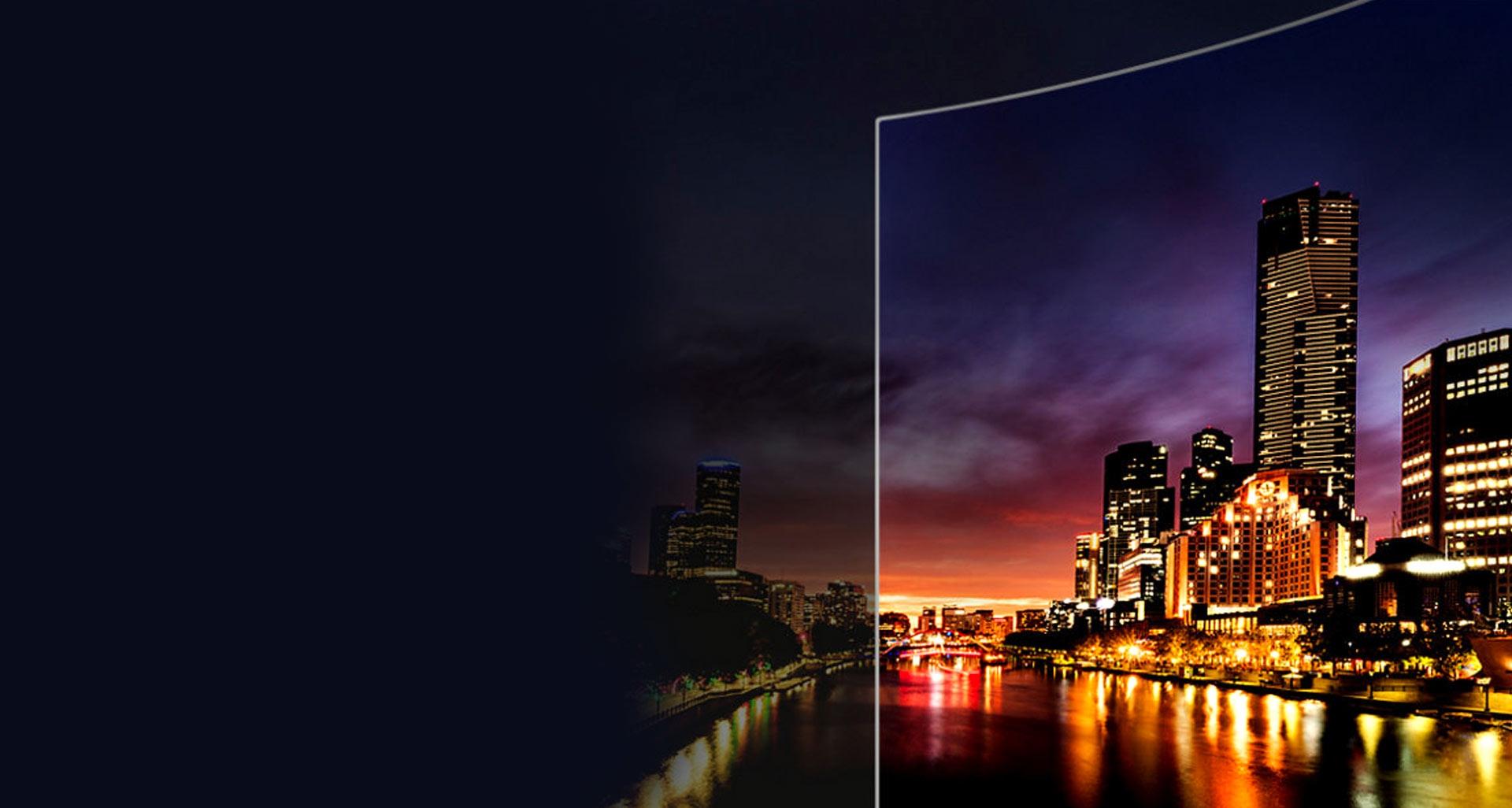 تلویزیون منحنی 4K سری 10 سامسونگ با شفافیت خارق العاده