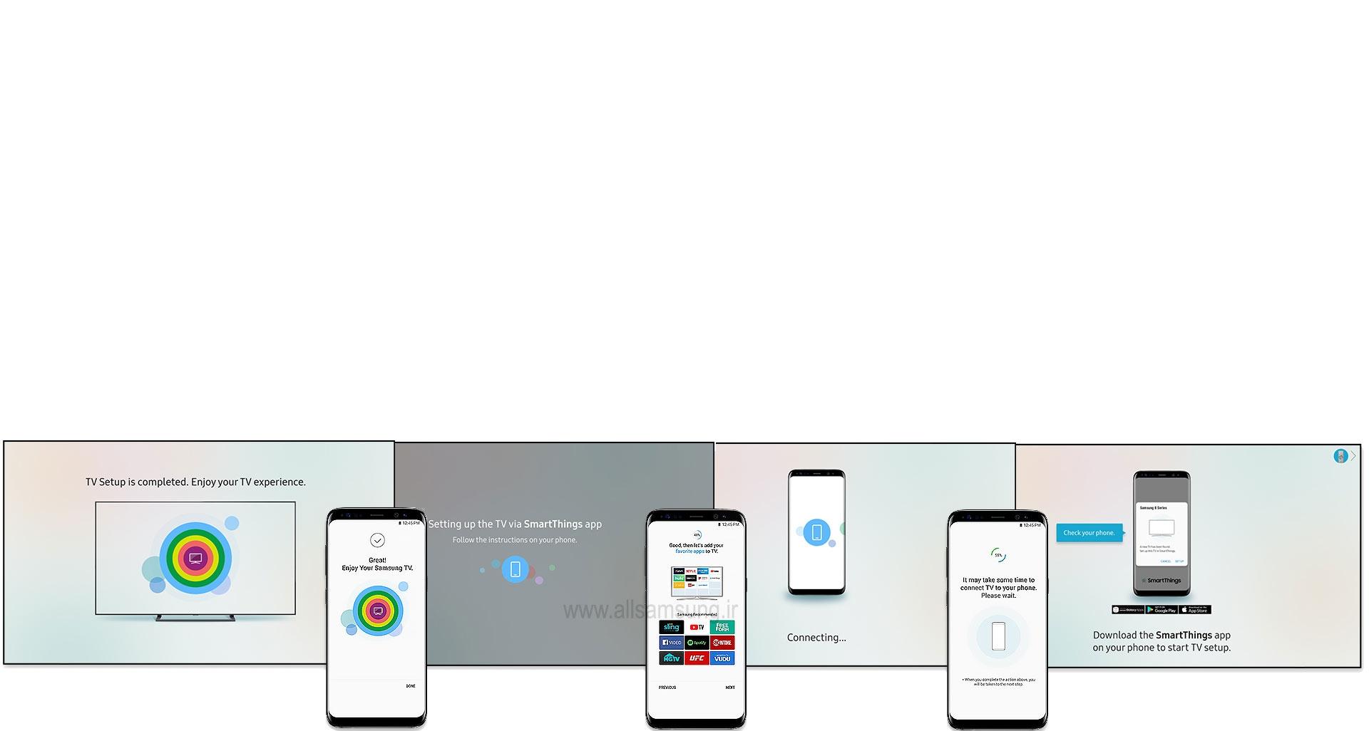 نصب آسان اپلیکیشن SmartThings بر روی گوشی هوشمند