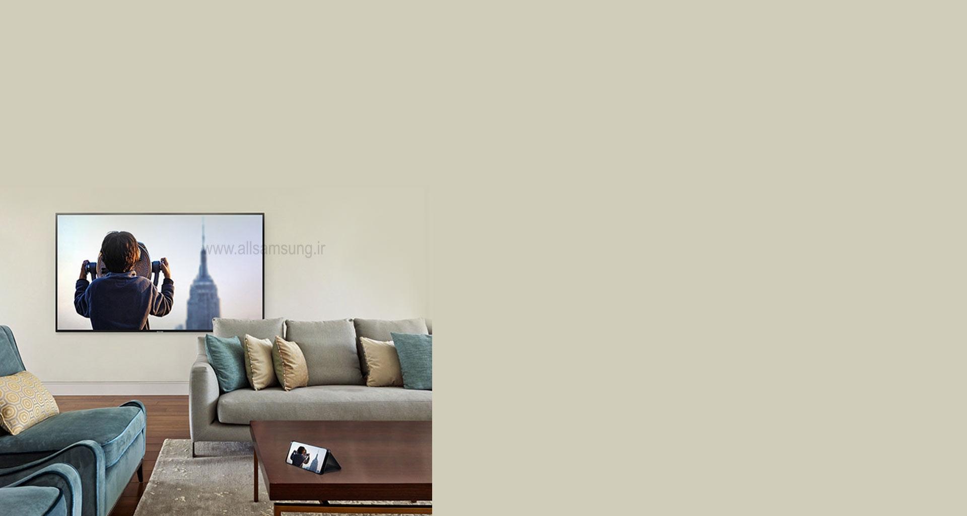 اشتراک گذاری آسان محتوای گوشی با تلویزیون 40 اینچ سامسونگ