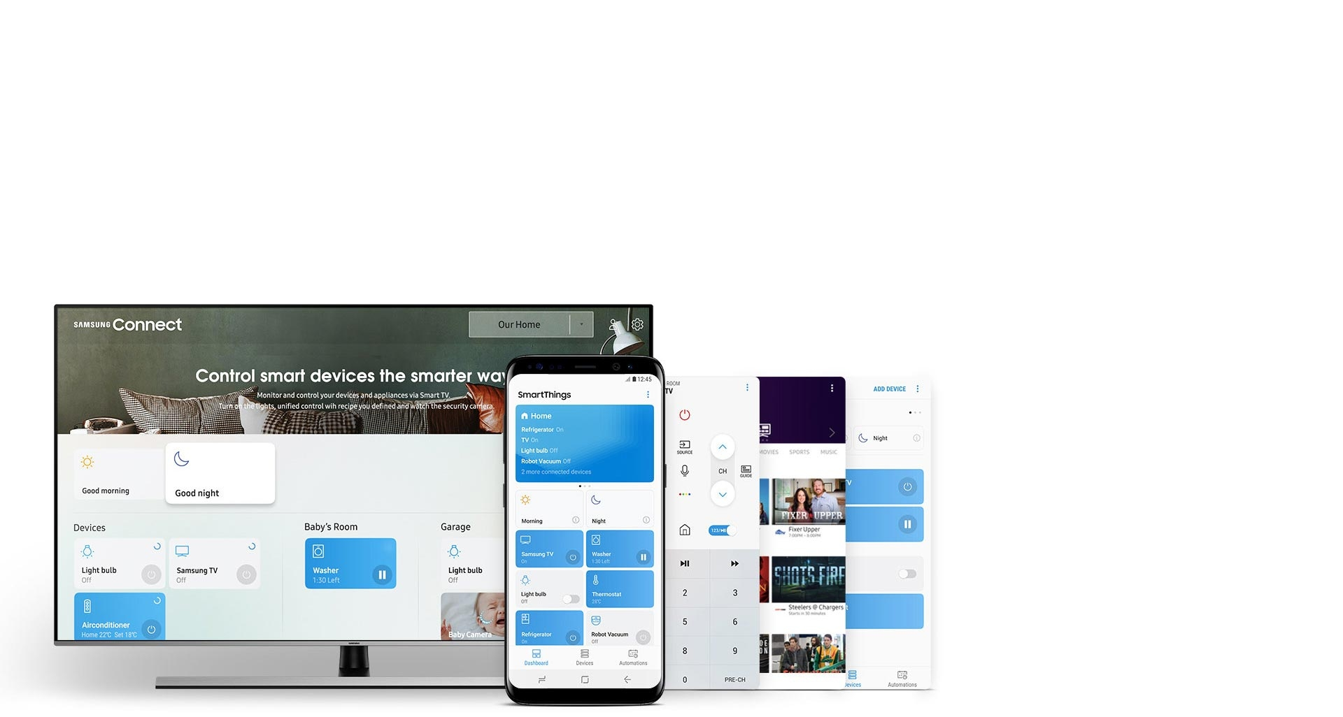 ال ای دی جدید سامسونگ با اپلیکیشنی برای مدیریت همه دیوایس های هوشمند