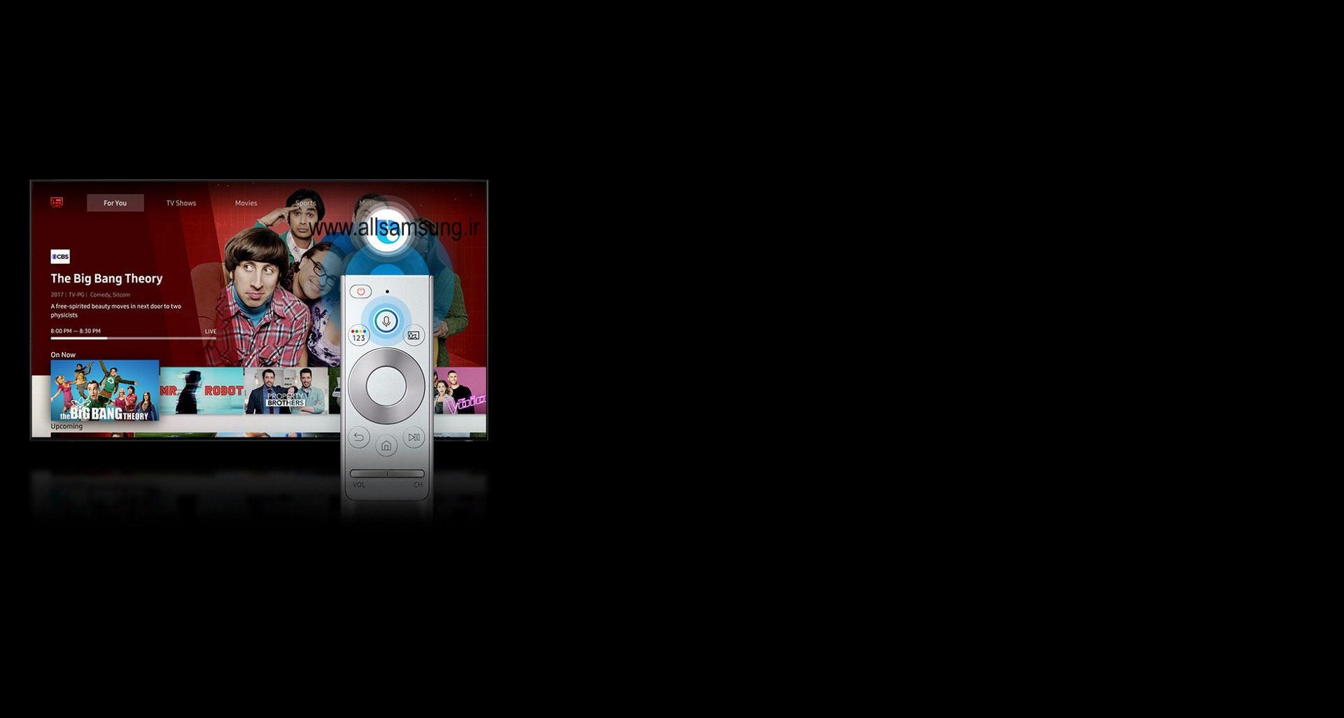 تلویزیون کیو ال ای دی به همراه راهنمای جهانی و بیکسبی