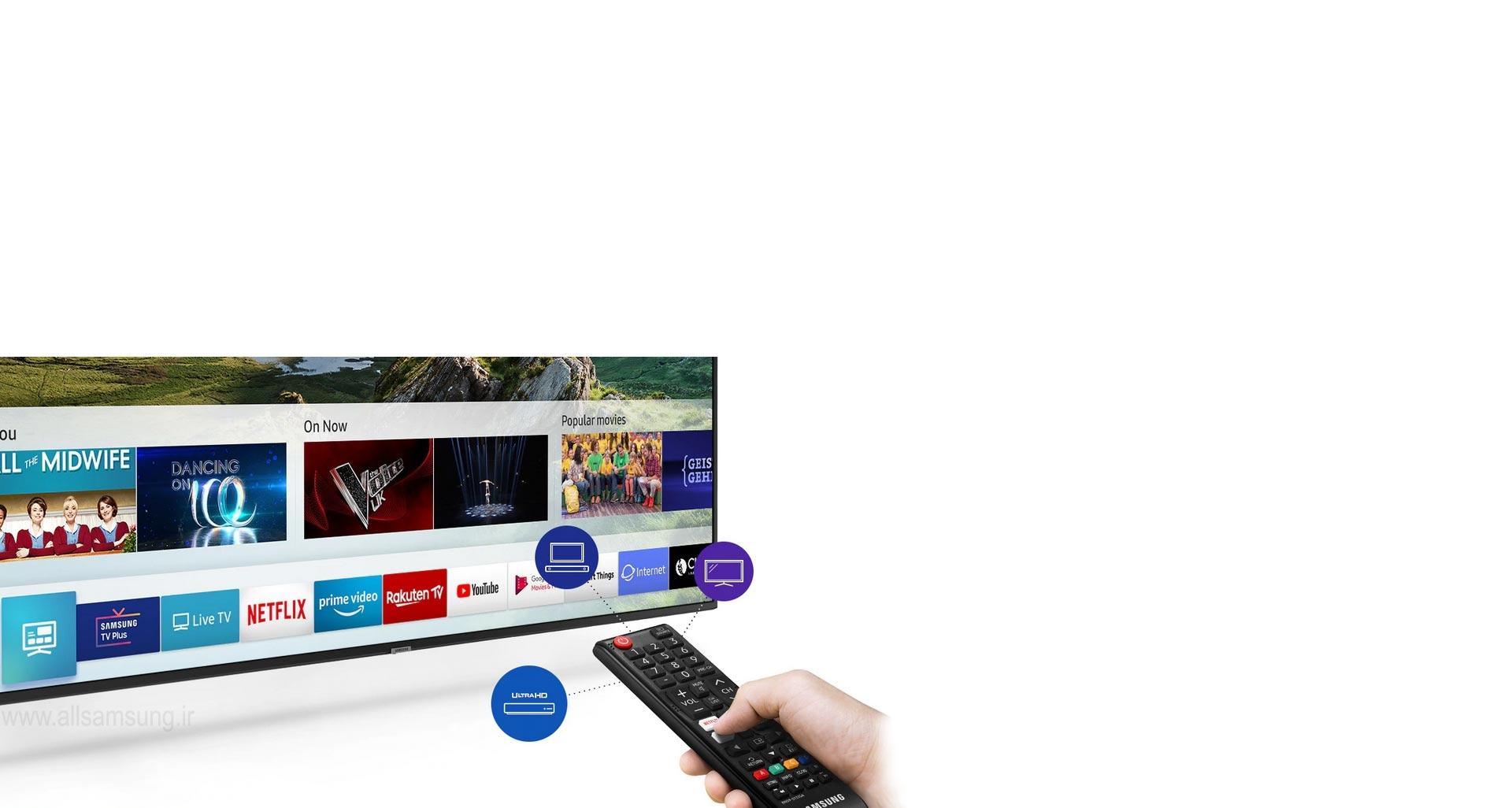 همه محتوا و دستگاه ها در تصرف تلویزیون ru7100 سامسونگ
