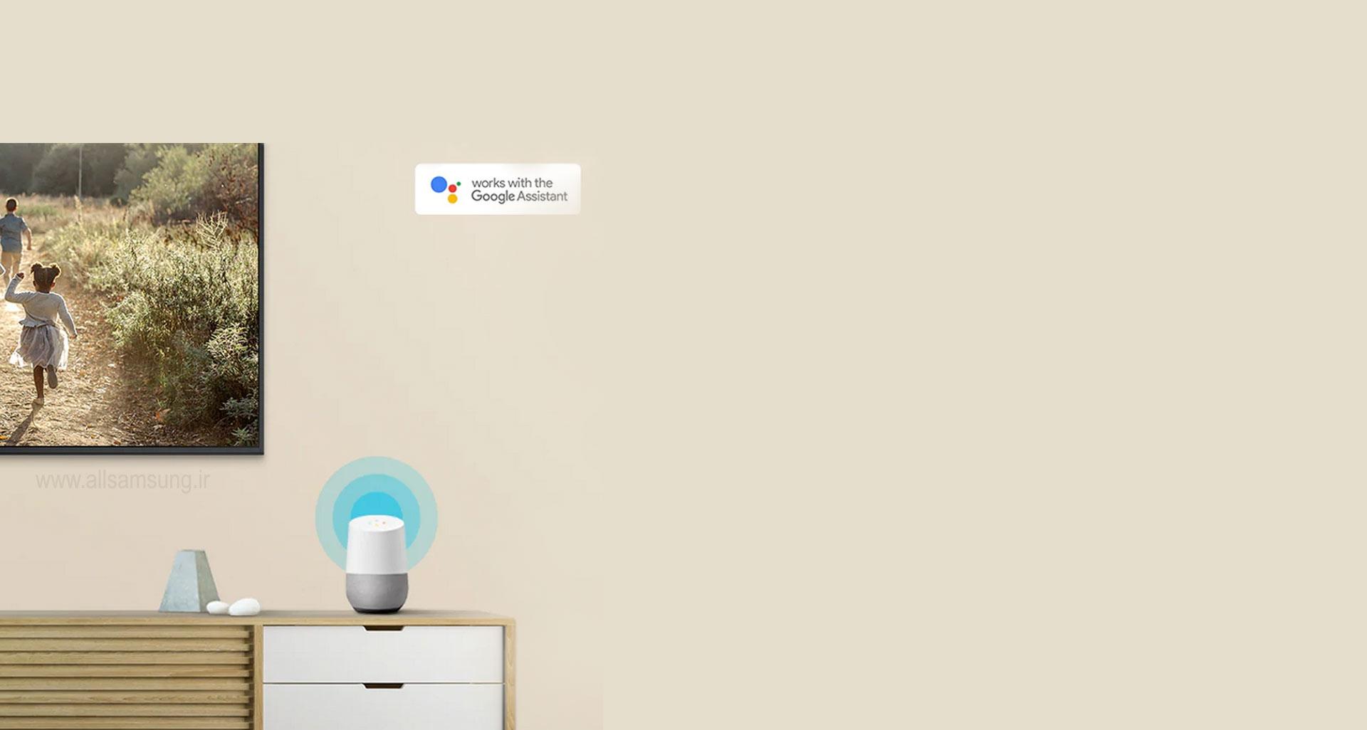 گوگل اسیستنت در تلویزیون 43ru7100