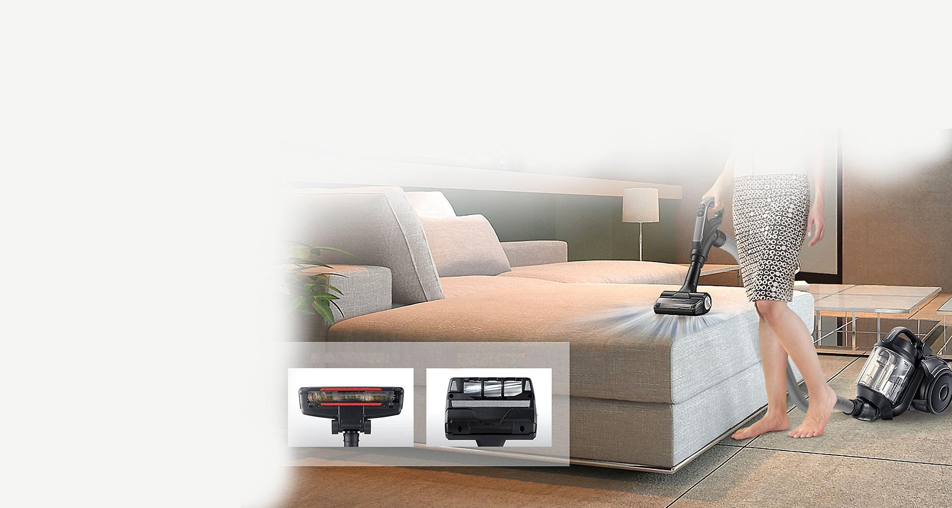 جاروبرقی سامسونگ مدل پرنس 3 با برس موگیر