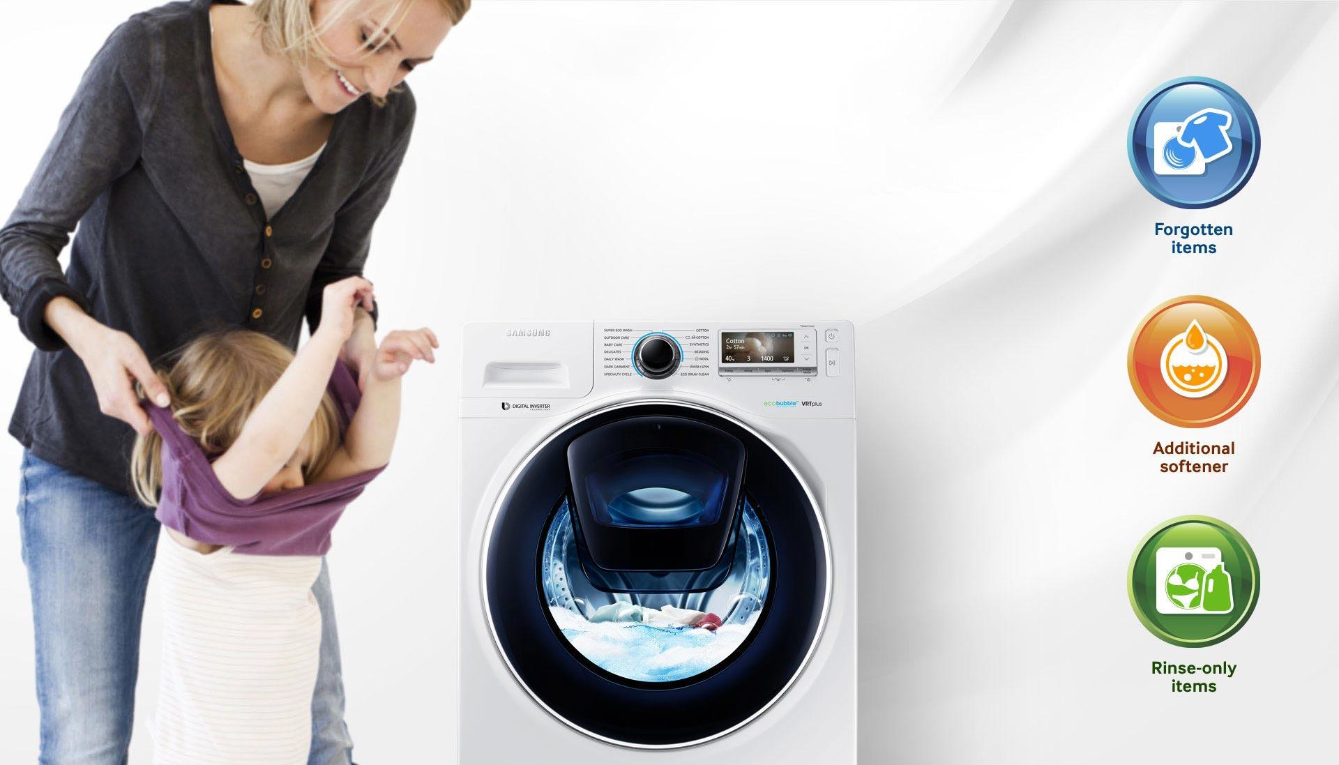 ماشین لباسشویی سامسونگ 9 کیلویی P1494 تسمه ای سفید