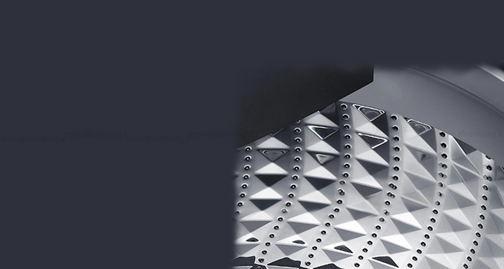 ماشین لباسشویی WA15B مجهز به دیگ الماسه