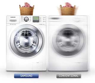 ماشین لباسشویی سامسونگ 11 کیلویی H144 تسمه ای سفید
