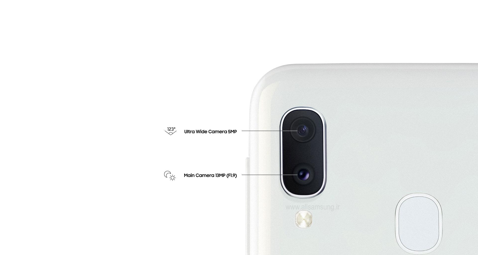 دوربین دوگانه گلکسی A20e برای تناسب بیشتر