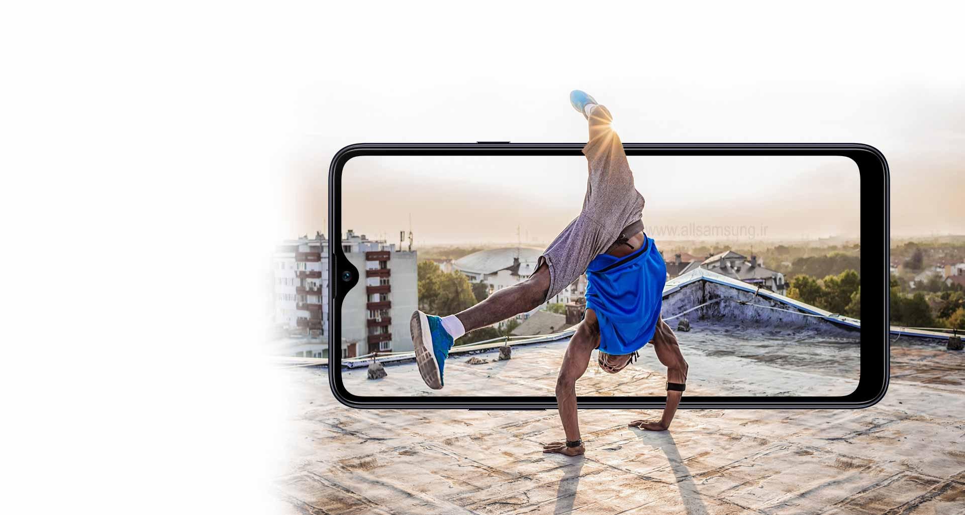صفحه نمایش بزرگ Galaxy A20s برای خلق سرگرمی های بزرگ