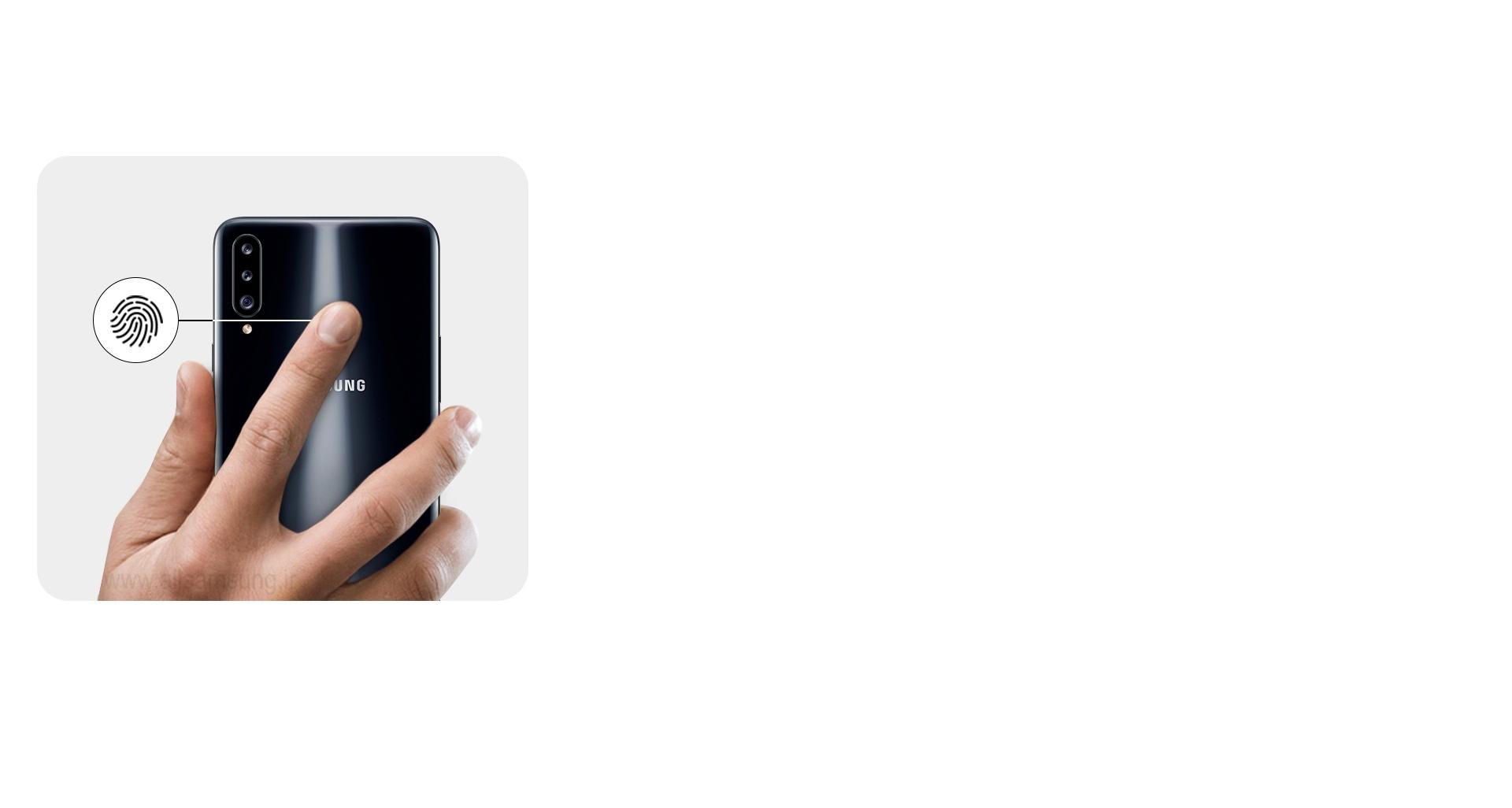 تأمین امنیت به شیوه بسیار آسان با سنسور اثر انگشت گوشی A20s
