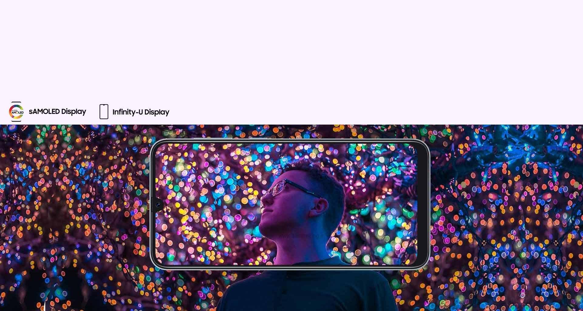 تجربه دیداری متفاوت با نمایشگر بی نظیر گوشی گلکسی A30