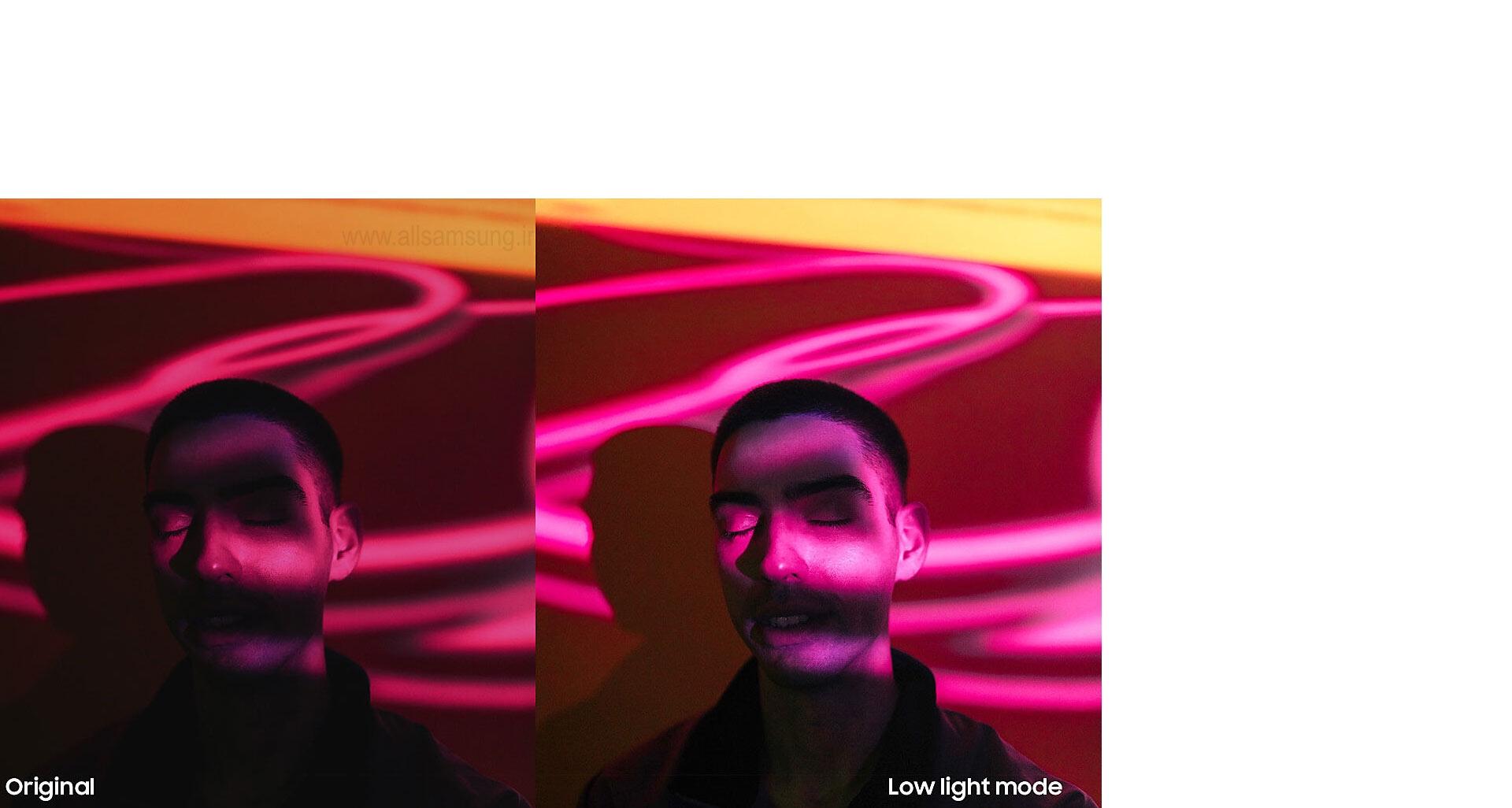 تصویری شفاف و واضح در نور کم با گلکسی A750
