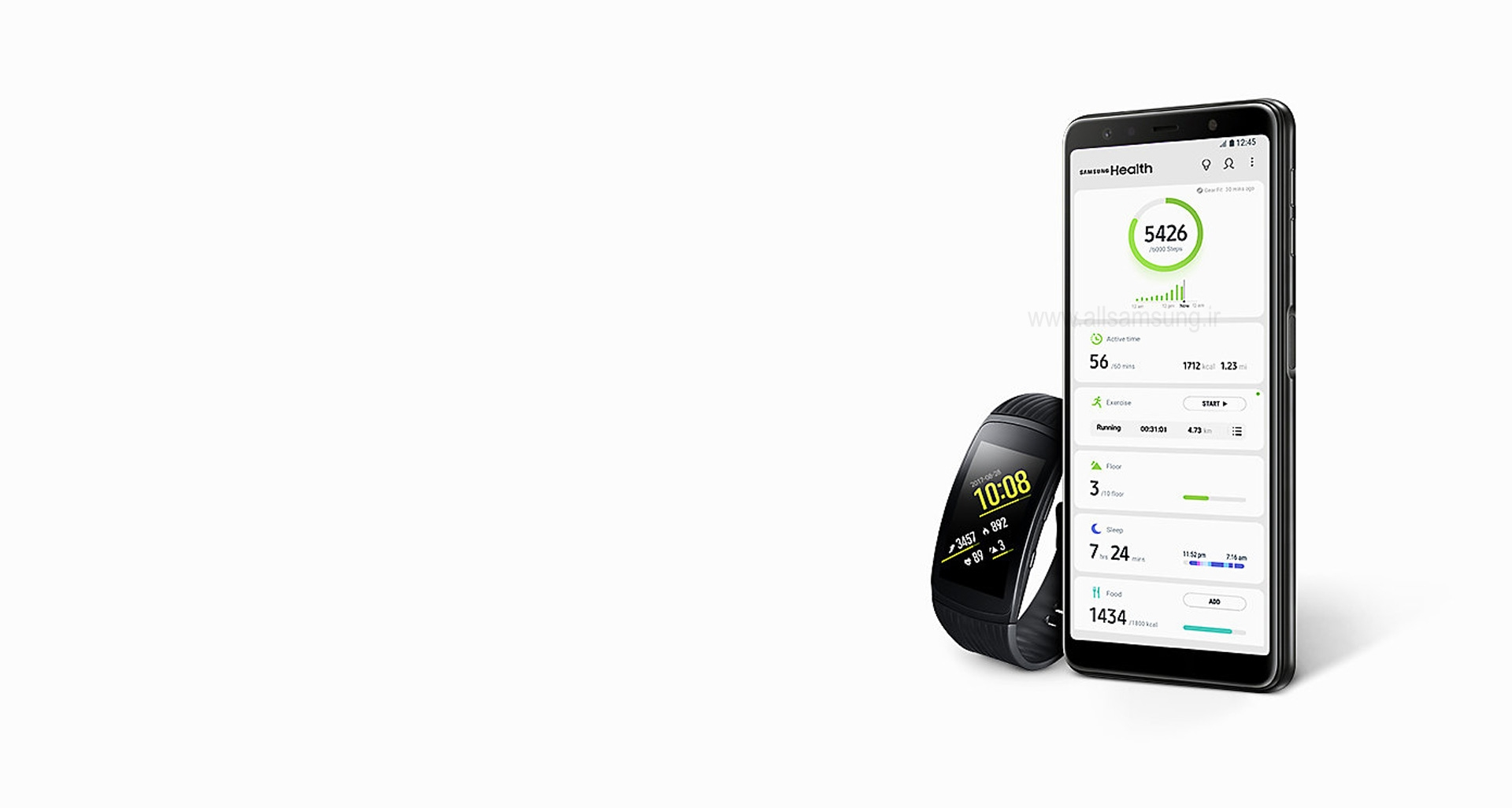 ردیابی سلامت شما با گوشی سامسونگ مدل a750fd