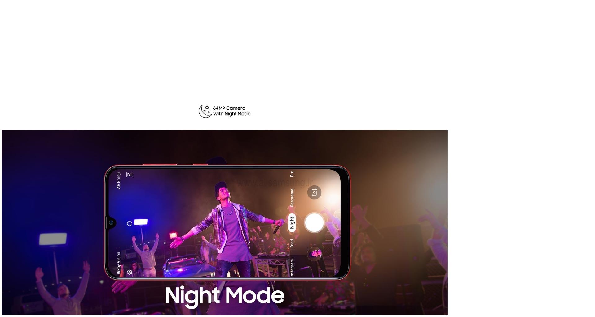 ثبت تصاویر باکیفیت در شب توسط گوشی گلکسی A70s