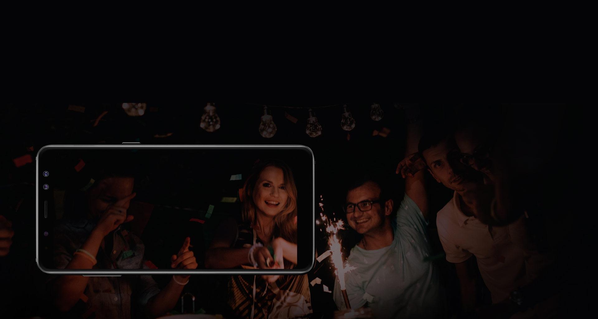 گوشی گلکسی ای 8 پلاس مناسب برای محیط های تاریک
