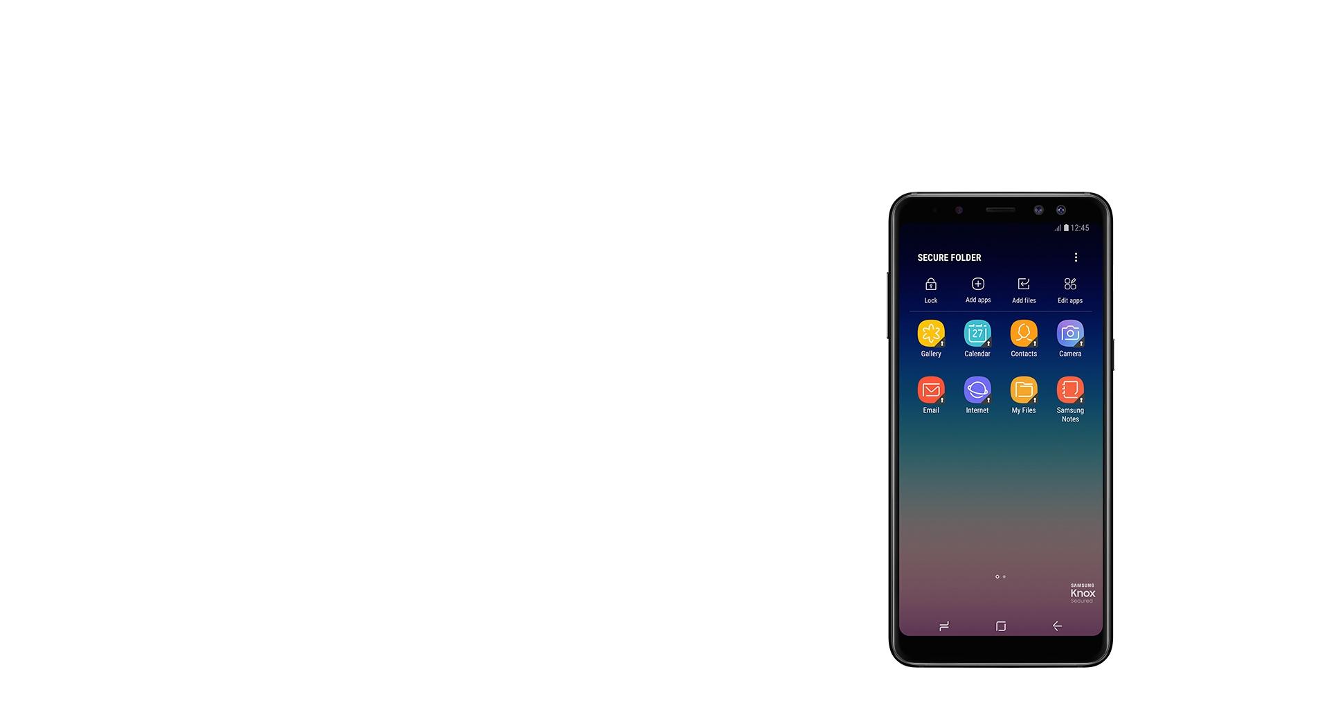 موبایل A8 سامسونگ 2018، حافظ اطلاعات شما