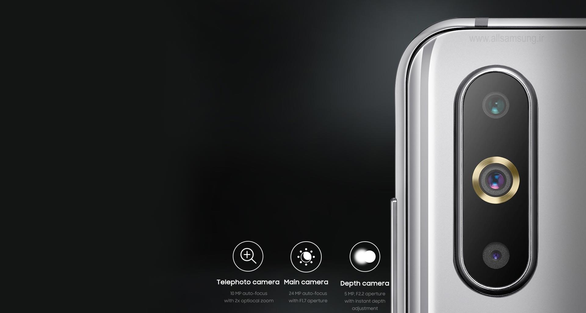 دوربین سه گانه گوشی گلکسی A8s برای تصاویری شگرف