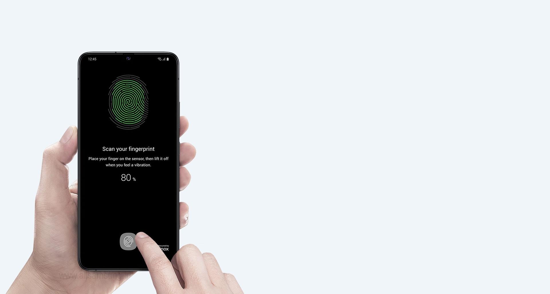 استفاده آسان از سنسور اثر انگشت گوشی سامسونگ گلکسی A90