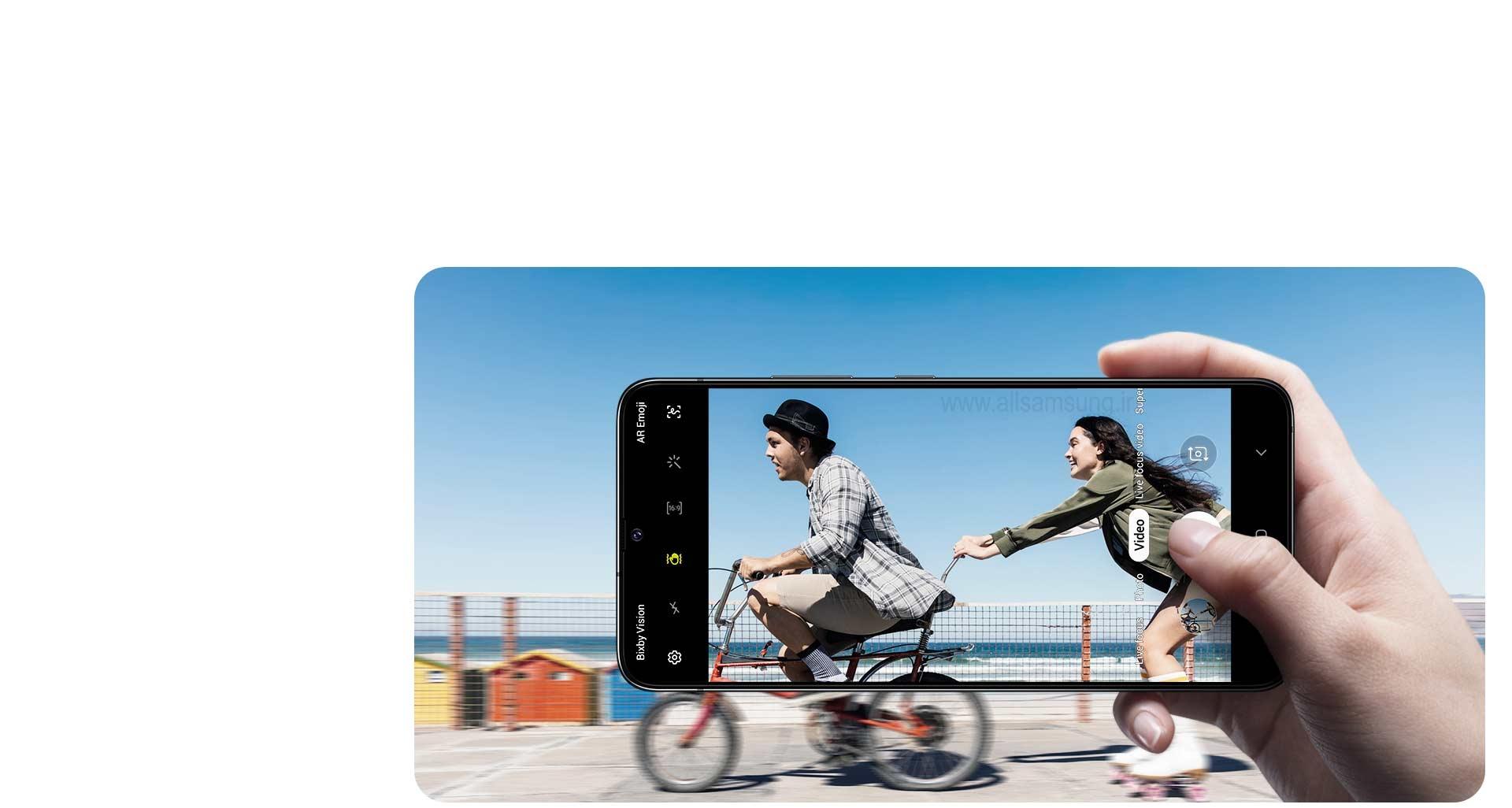 ثبت ویدیوهایی بدون لرزش توسط گوشی A90 سامسونگ