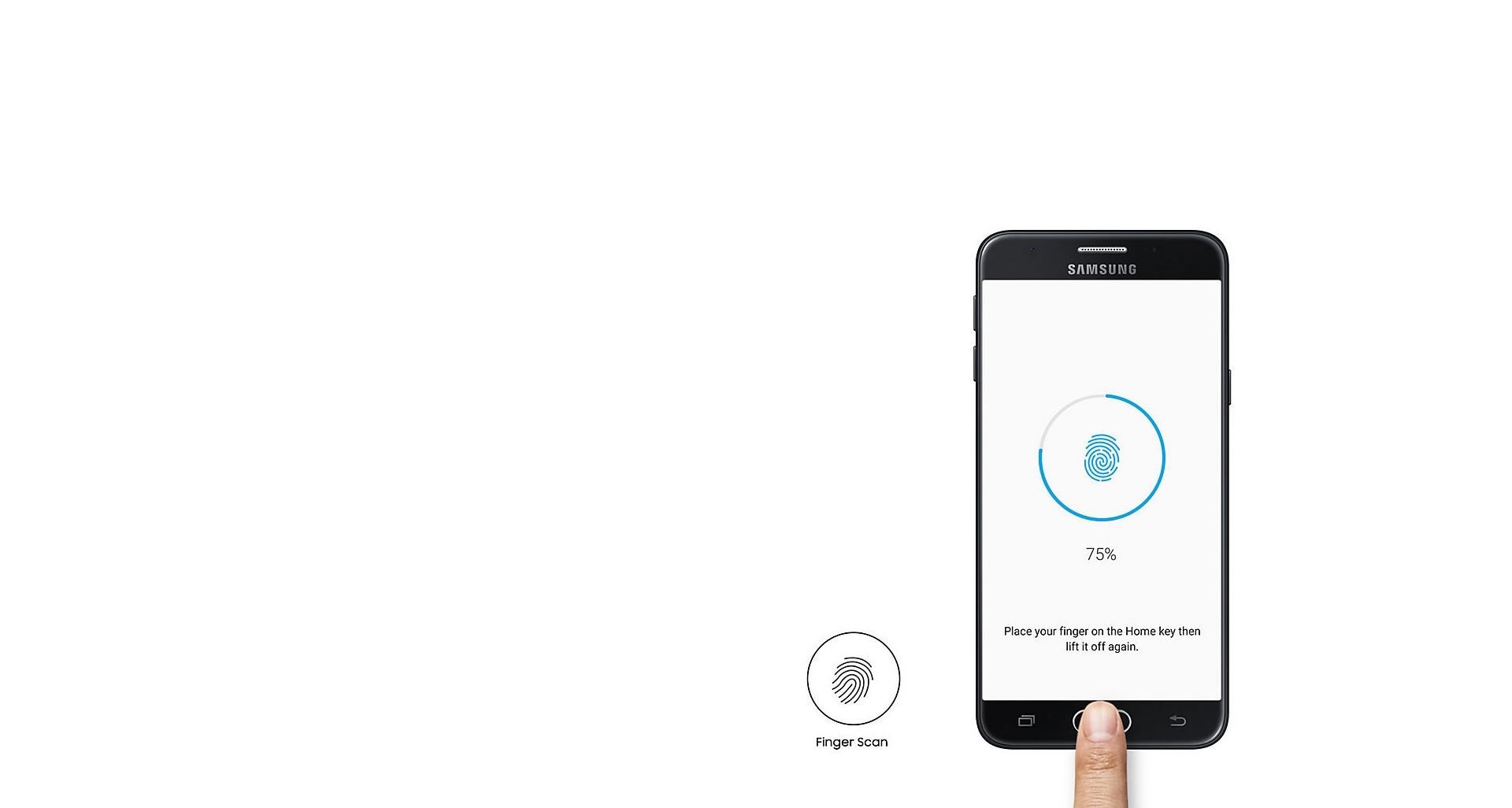 امنیت بهبود یافته گوشی گلکسی جی 5 پرایم با سنسور اثر انگشت