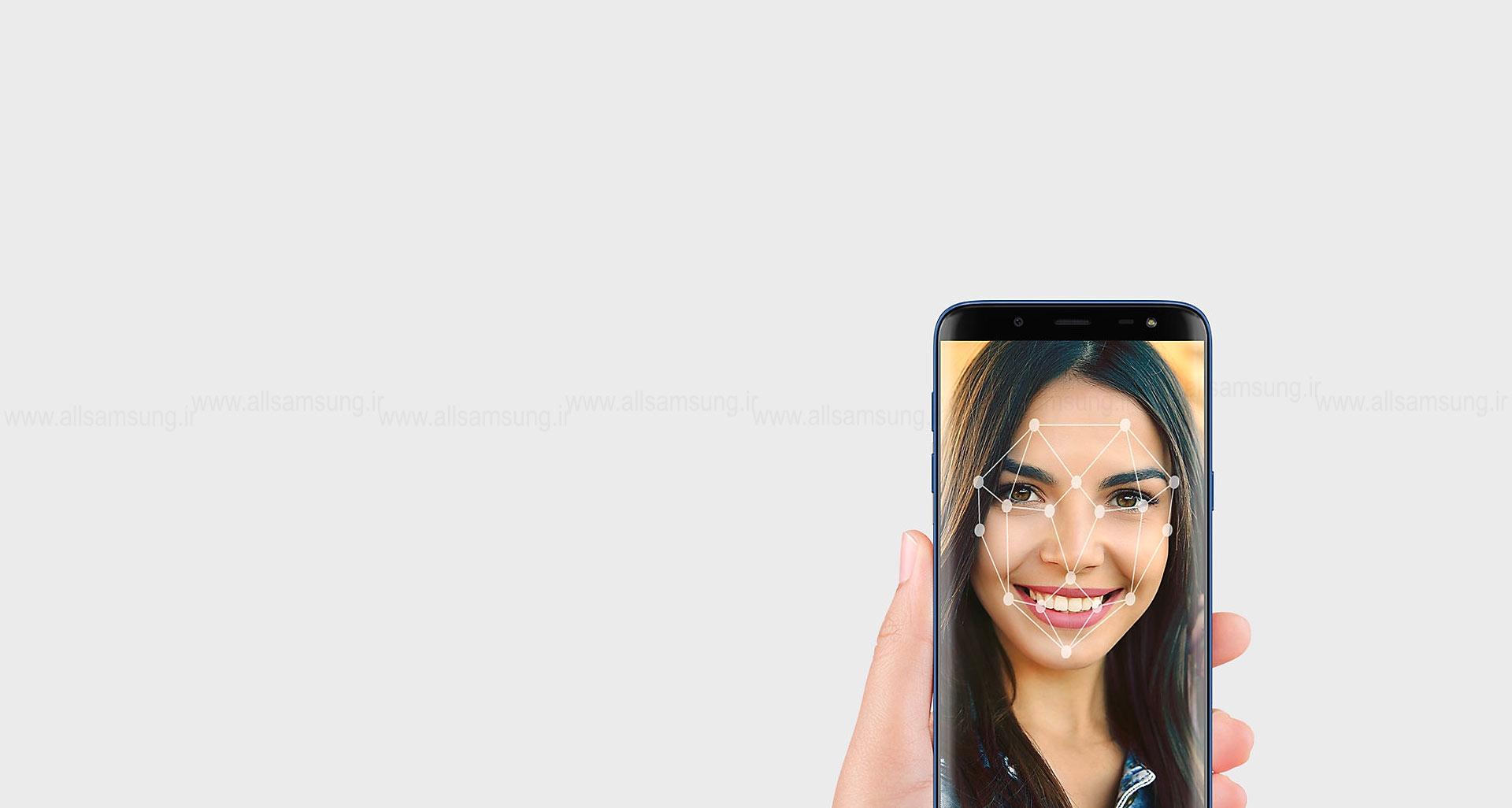 احراز هویت پیشرفته گوشی گلکسی جی 6 با تشخیص چهره