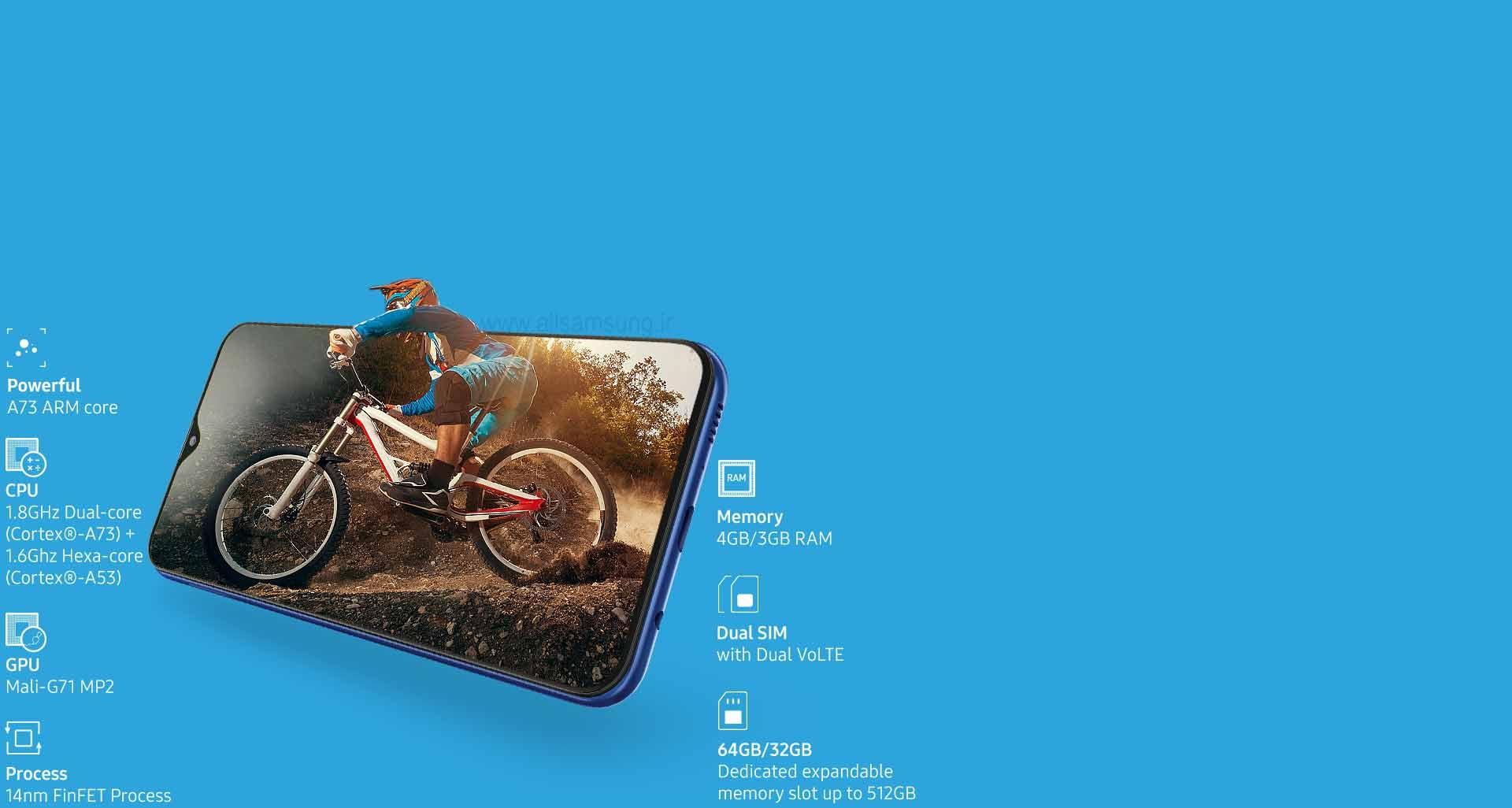 پردازنده قدرتمند گوشی Galaxy M20