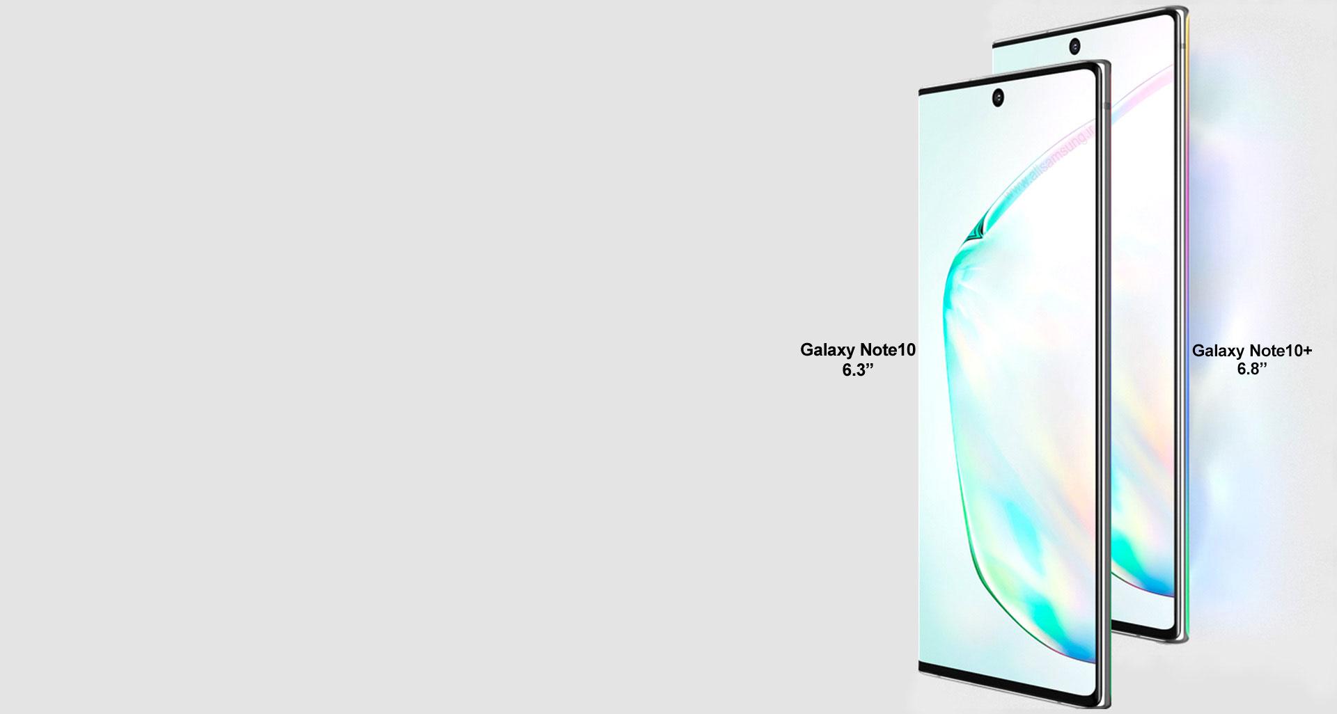 گلکسی نوت 10 با صفحه نمایش 6.3 اینچی