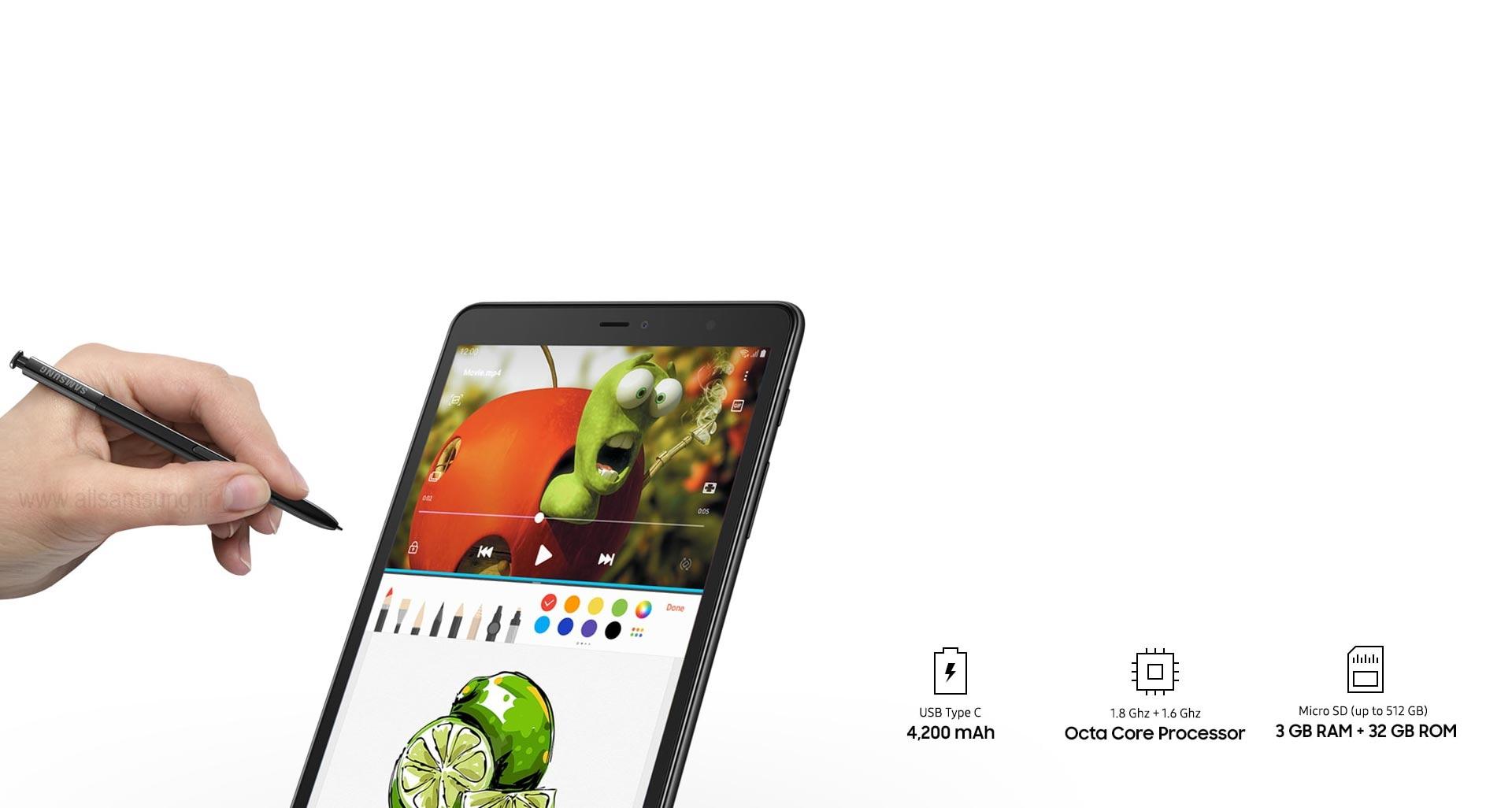 تبلت Galaxy Tab A با قلم S pen، همواره همراه شما