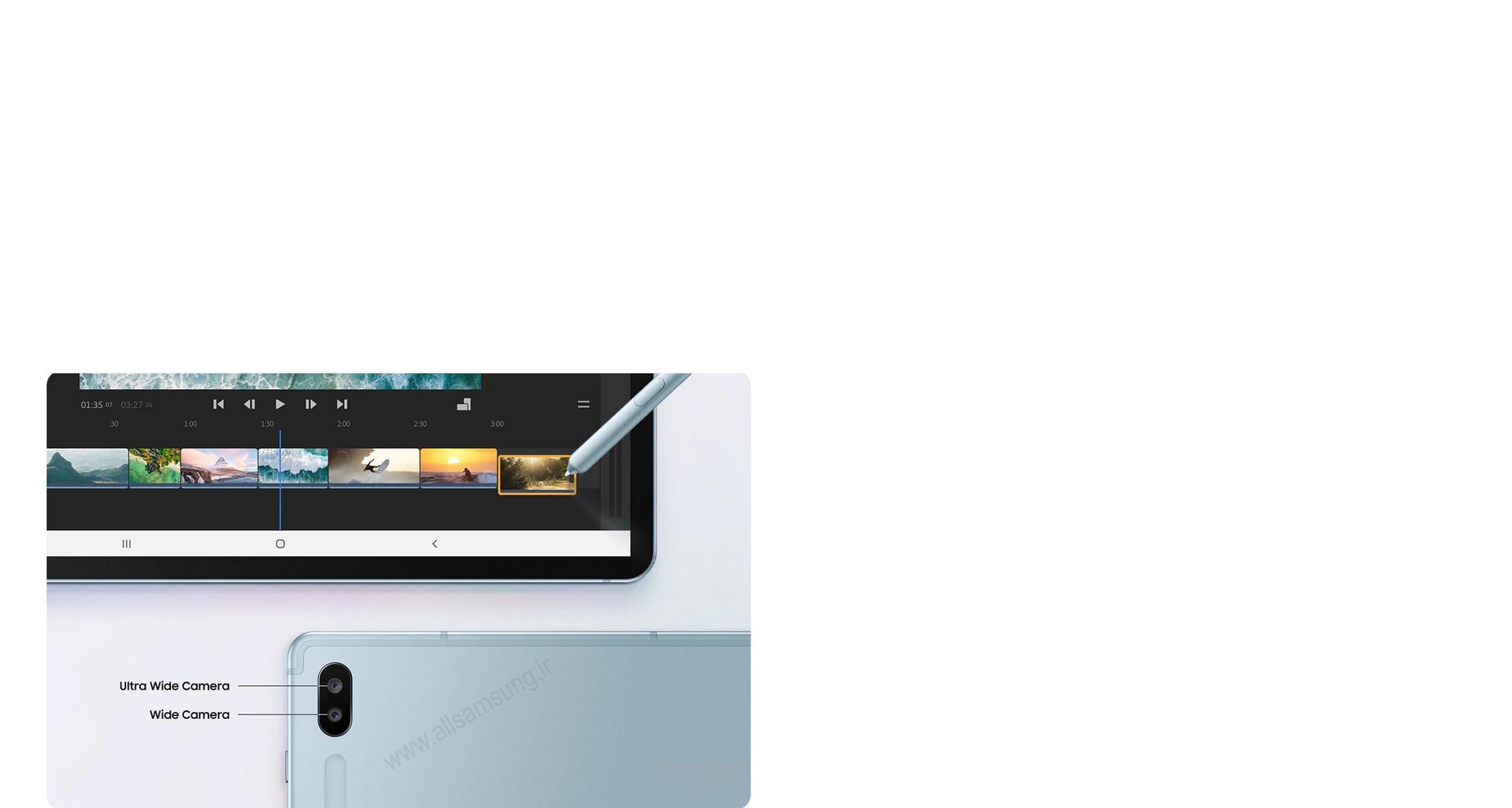 یک استودیوی کامل پخش فیلم در تب S6 سامسونگ