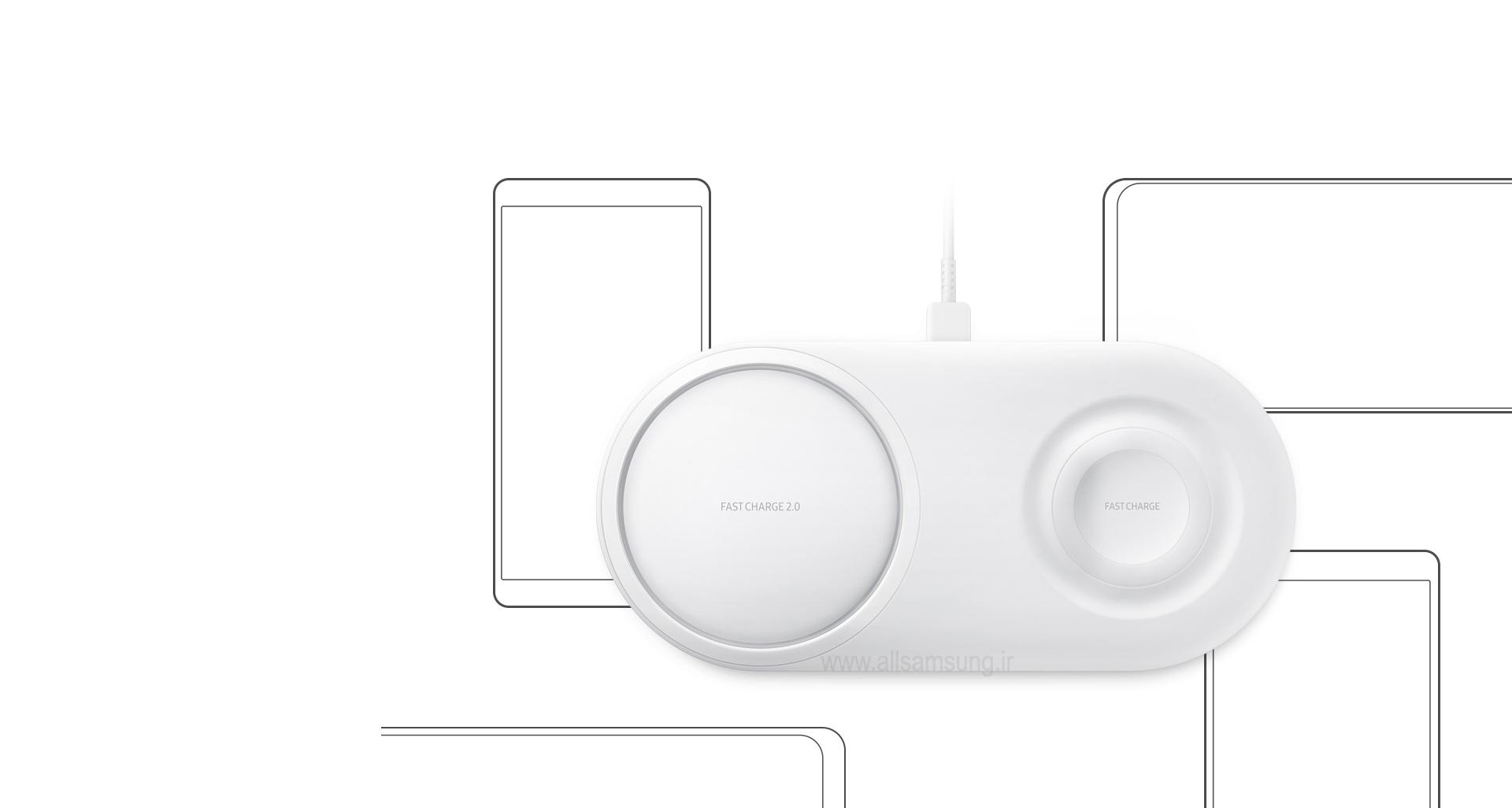 پد شارژر بی سیم Duo سازگار با دستگاه های Qi