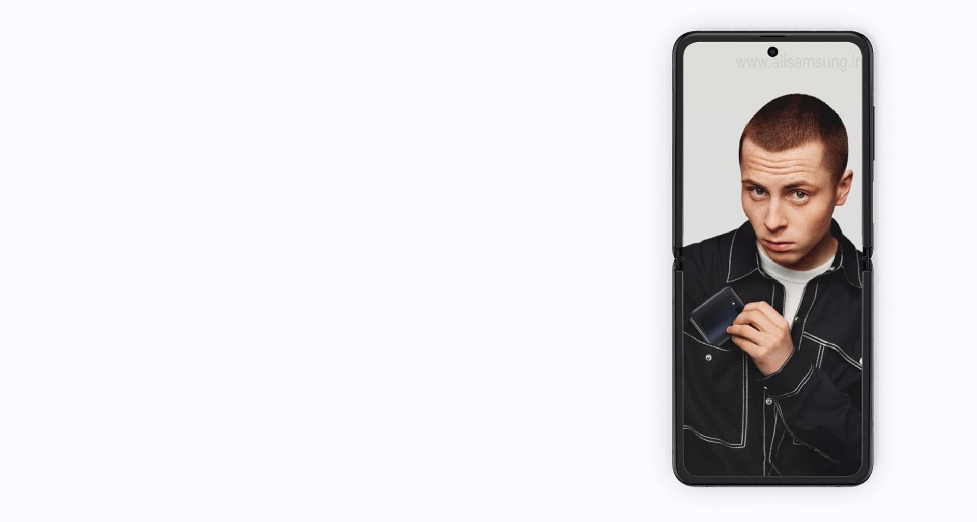 صفحه فول اسکرین z flip با اندازه ای متناسب با جیب شما