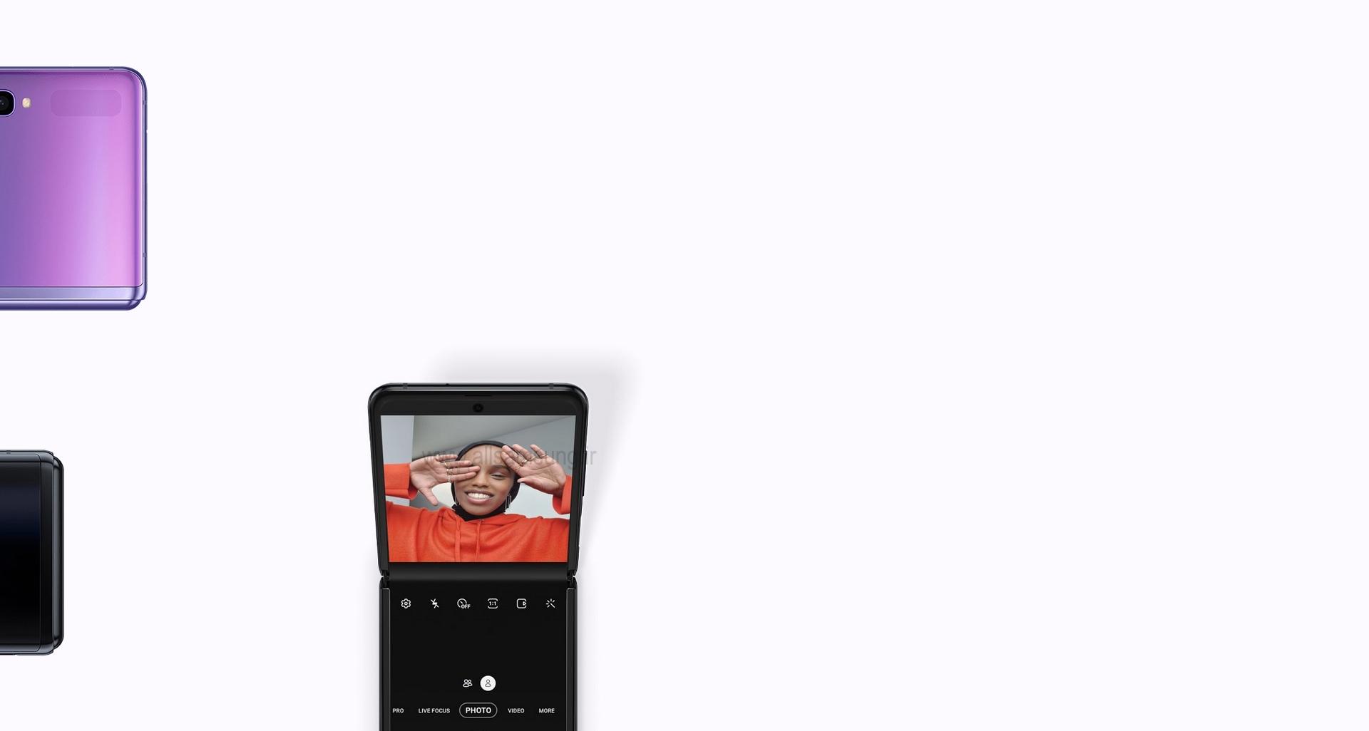 گوشی Galaxy Z Flip با قابلیت قرار گرفتن به صورت عمودی